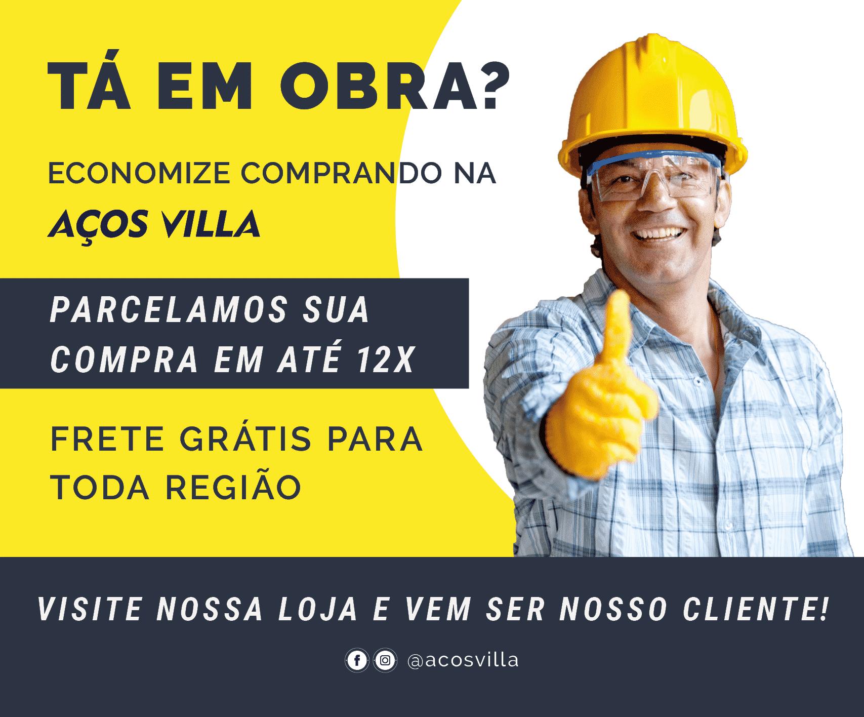 Banner Paisagem Vantagens Aços Villa 2 - Aços Villa - Loja de Materiais de Construção e Serralheria