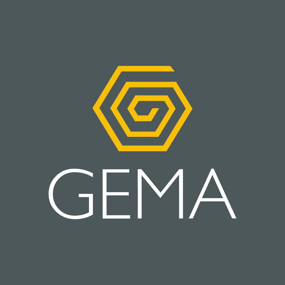 Logo Gema Negativa - Gema