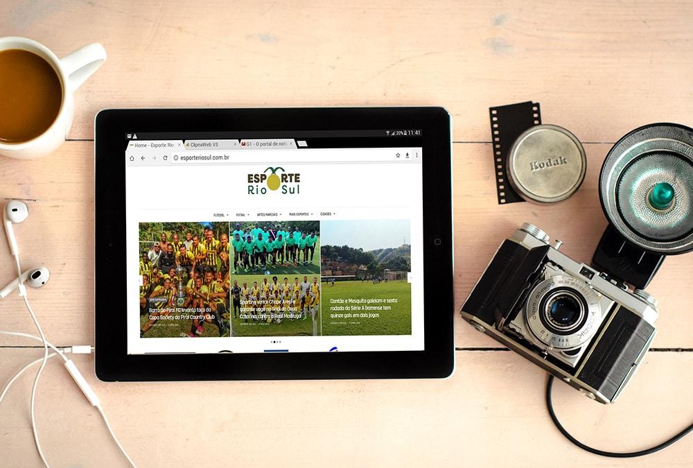 Portfolio Esporte Rio Sul 2 - Site para pequenas empresas