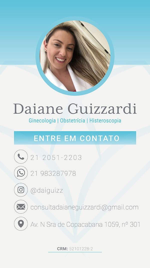 Cartão Digital - Dra Daiane Guizzardi